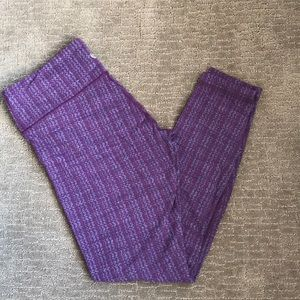 Lululemon wunder under patterned leggings